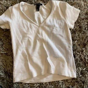 White tee from forever 21